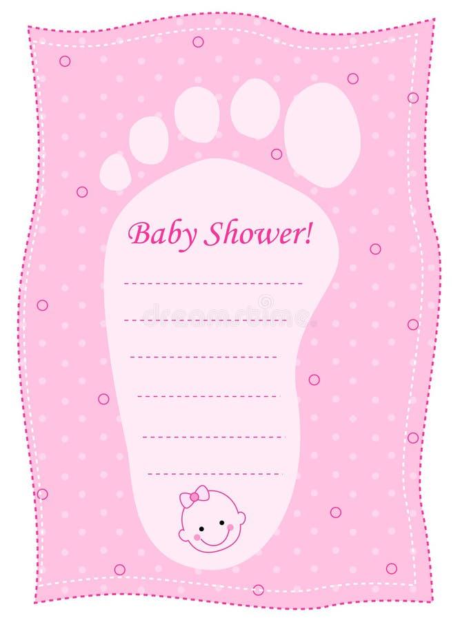 Baby showerinbjudan stock illustrationer