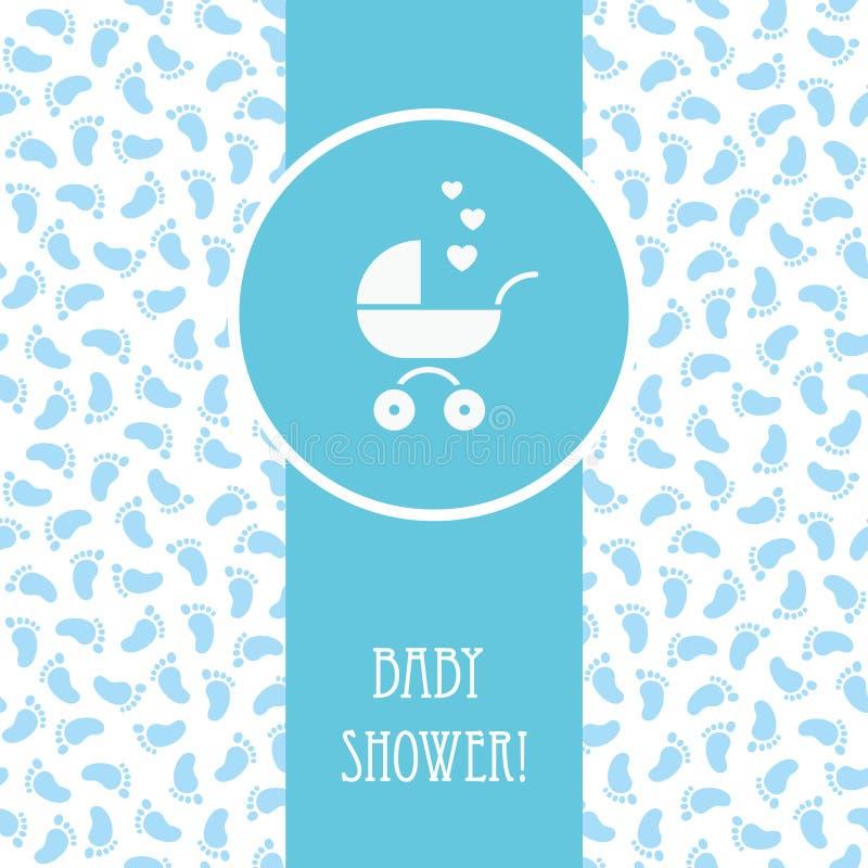Baby showerpojkekort vektor illustrationer