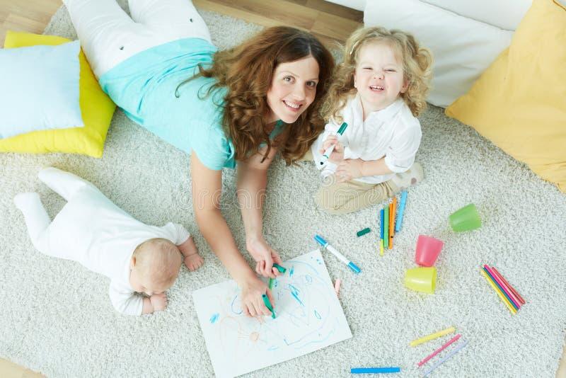 Baby-sitter foto de stock