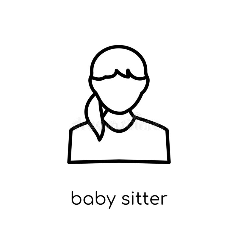 Baby sitter icon. Trendy modern flat linear vector Baby sitter i vector illustration