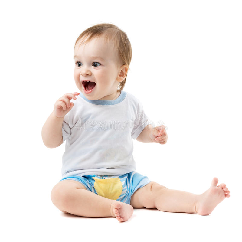 Download Baby sitting and laughing stock image. Image of children - 34887901