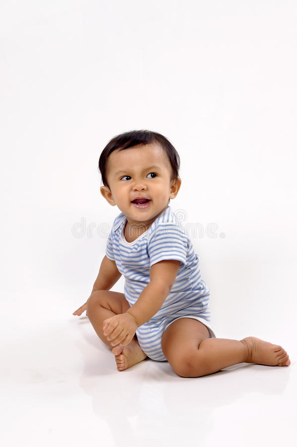 Download Baby Sitting in the Studio stock photo. Image of child - 11975448