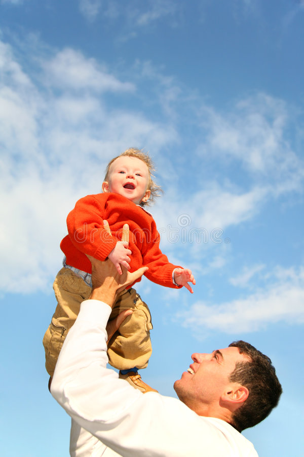 Baby in sky royalty free stock photography