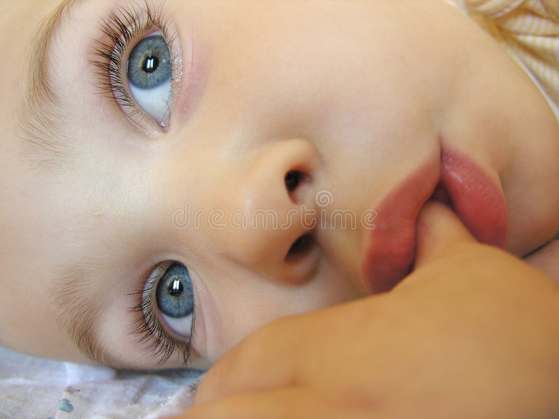 Baby after sleep royalty free stock photo