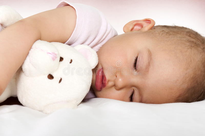 Baby sleep royalty free stock photos