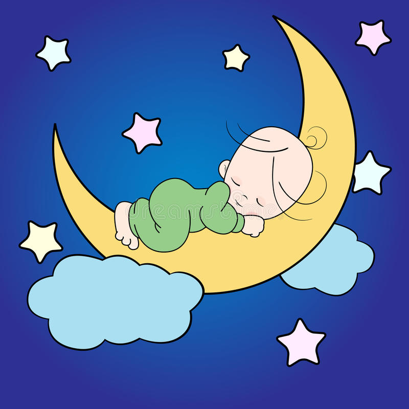 Download Baby sleeping stock illustration. Illustration of dreaming - 24686879