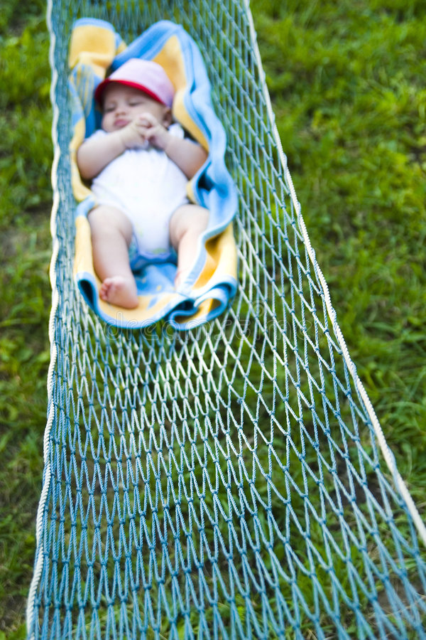 Download Baby Sleeping In Hammock Stock Images - Image: 3840774