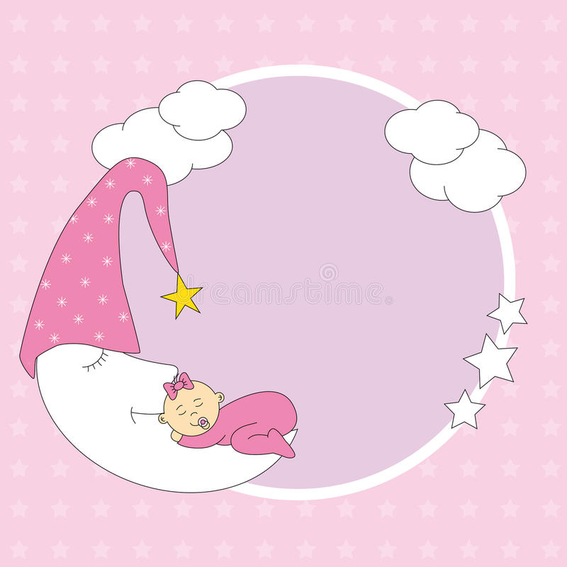 Download Baby sleeping on the moon stock vector. Image of invitation - 20300375