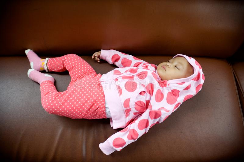 Download Baby sleeping on a sofa stock image. Image of child, portrait - 8275633