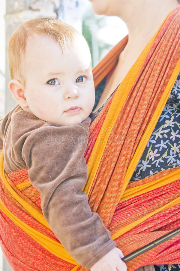 Download Baby in sling stock image. Image of colorful, baby, child - 25720183