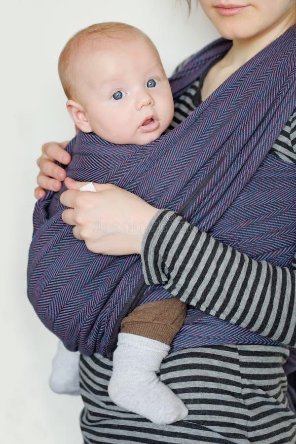 Download Baby in sling stock photo. Image of outdoor, comfort - 39184314