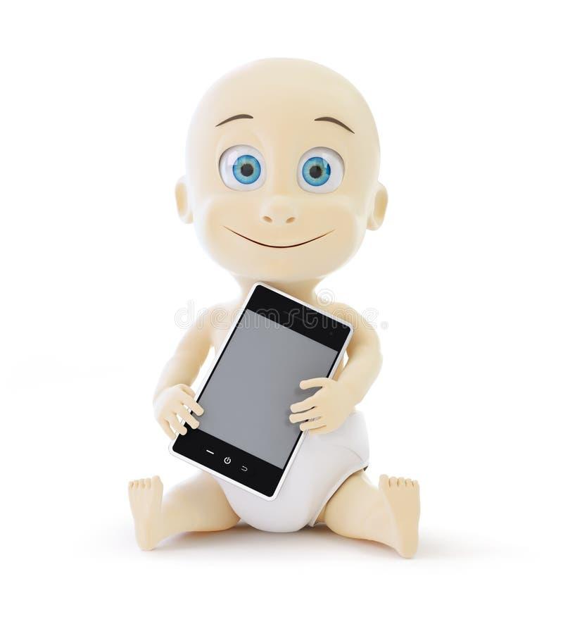 Download Baby smart phone stock illustration. Illustration of decoration - 29228937