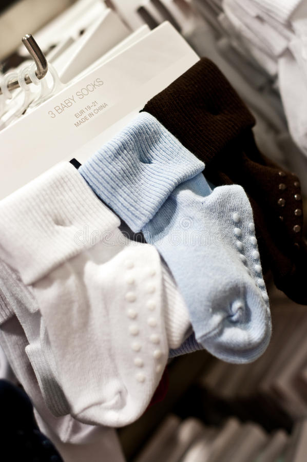 Download Baby socks stock image. Image of hanger, textiles, made - 37731907