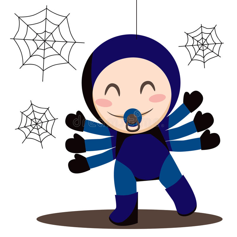 Download Baby Spider stock vector. Image of baby, human, childhood - 19033840