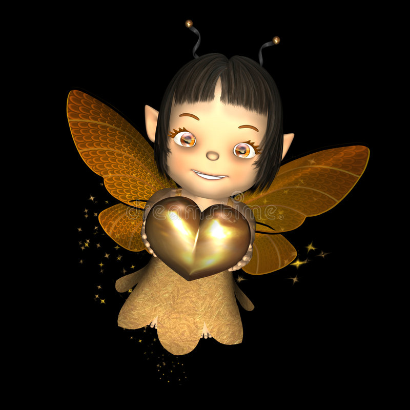 Download Baby Sprite stock illustration. Image of sprite, mythical - 1720748