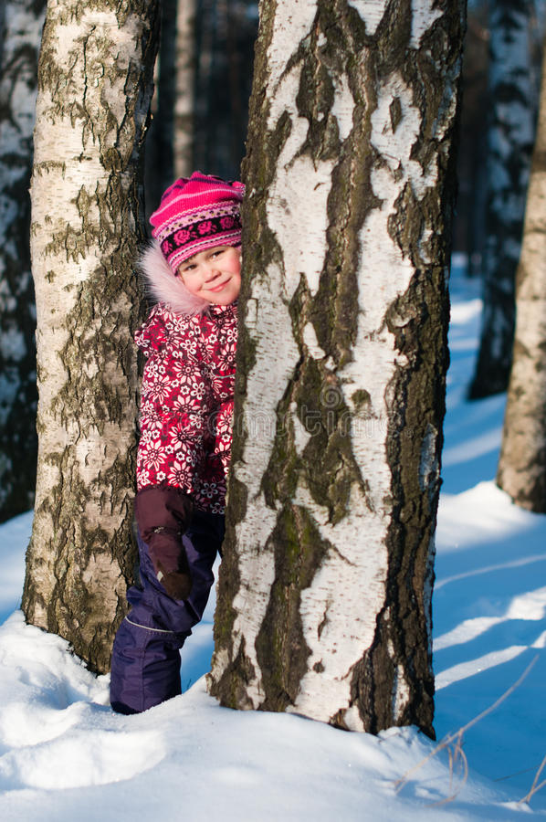 Download Baby stands in wood stock image. Image of cold, childhood - 23078133