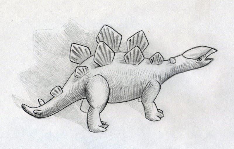 Download Baby stegosaurus stock illustration. Image of sketches - 42321574