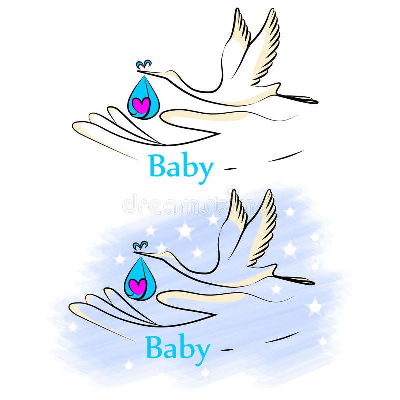 Baby_stork royalty free stock images