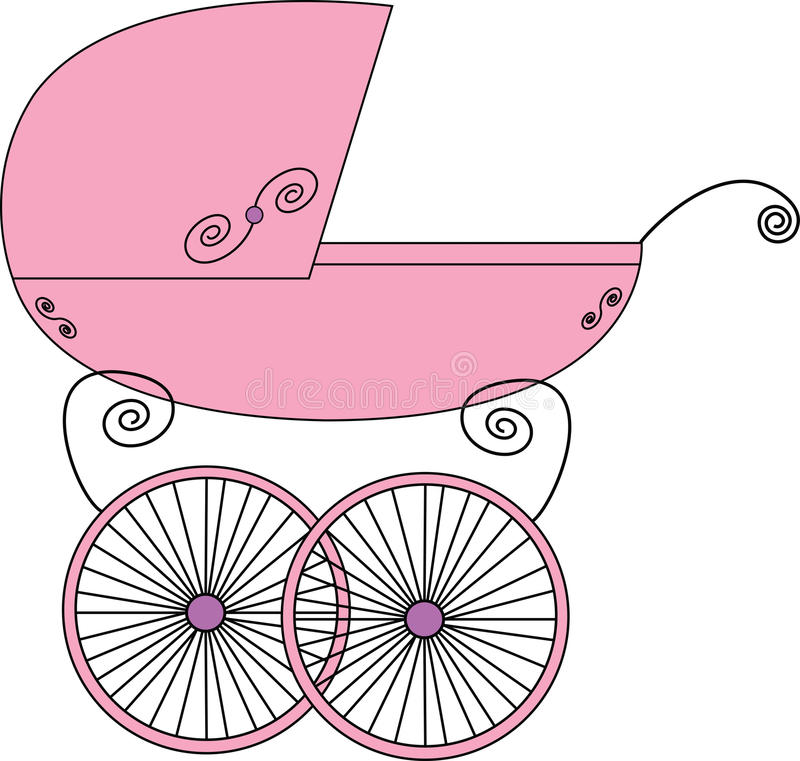 Baby stroller. A illustration of baby stroller royalty free illustration