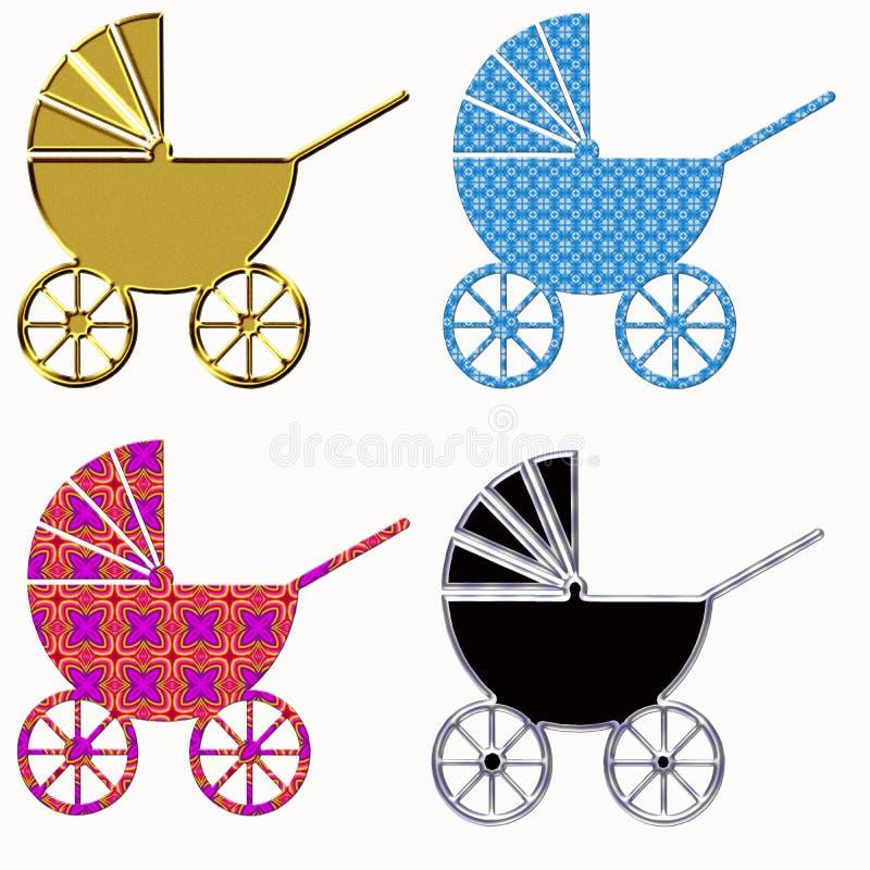 Download Baby stroller stock illustration. Illustration of parenting - 6937077