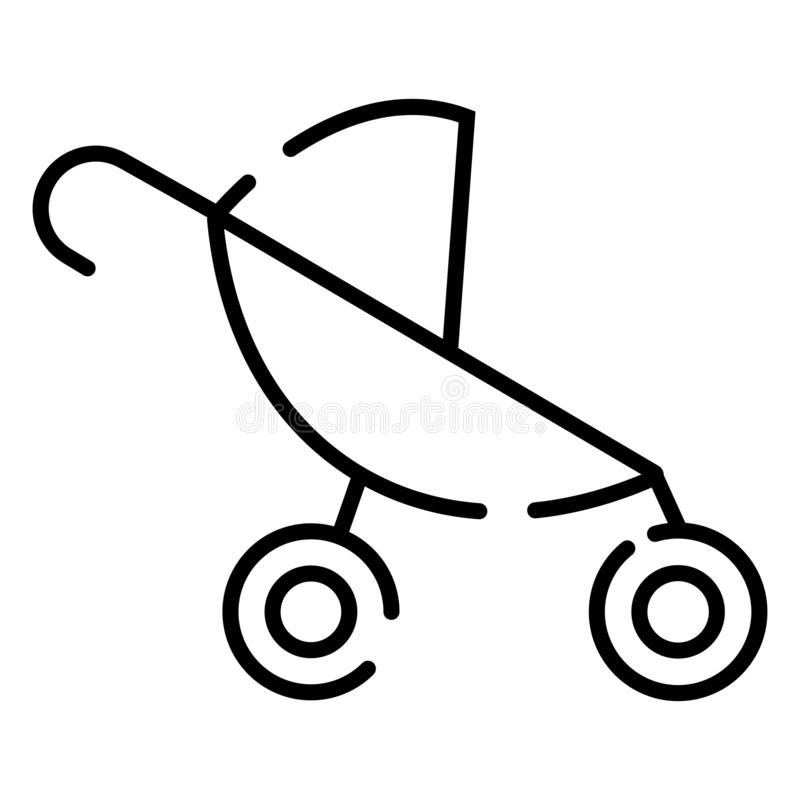 Baby Stroller icon stock illustration