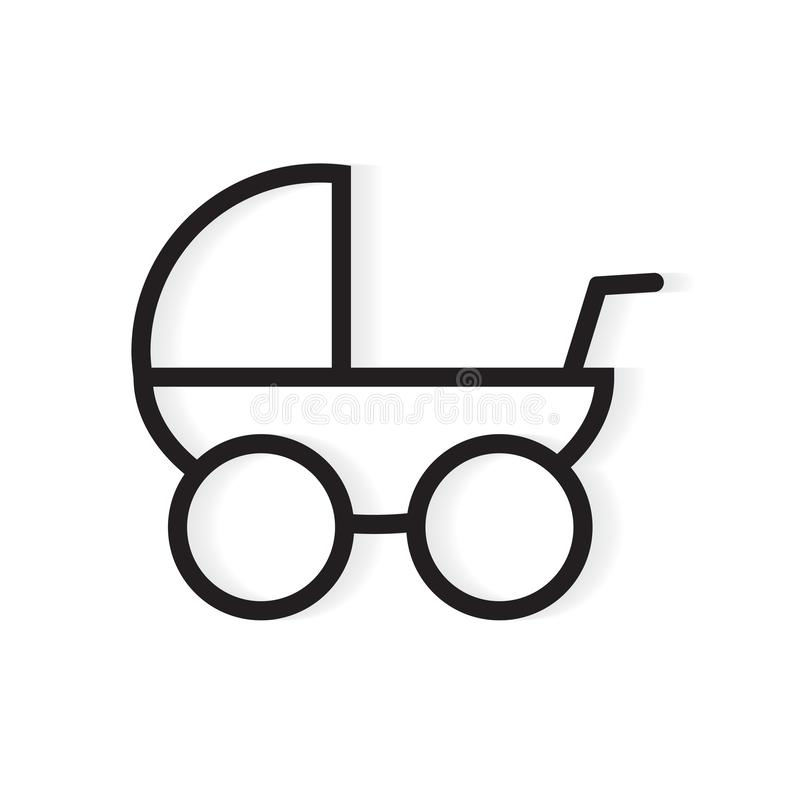 Baby stroller icon royalty free illustration