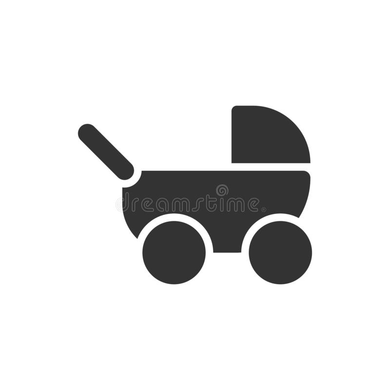 Baby, stroller icon - Vector stock illustration