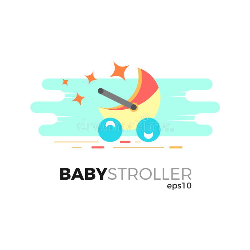 Baby stroller illustration stock vector. Illustration of care ...