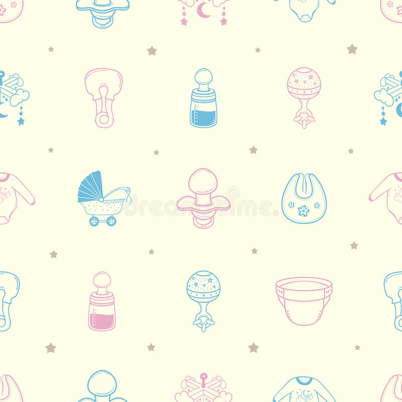 baby stuff background pattern stock illustration