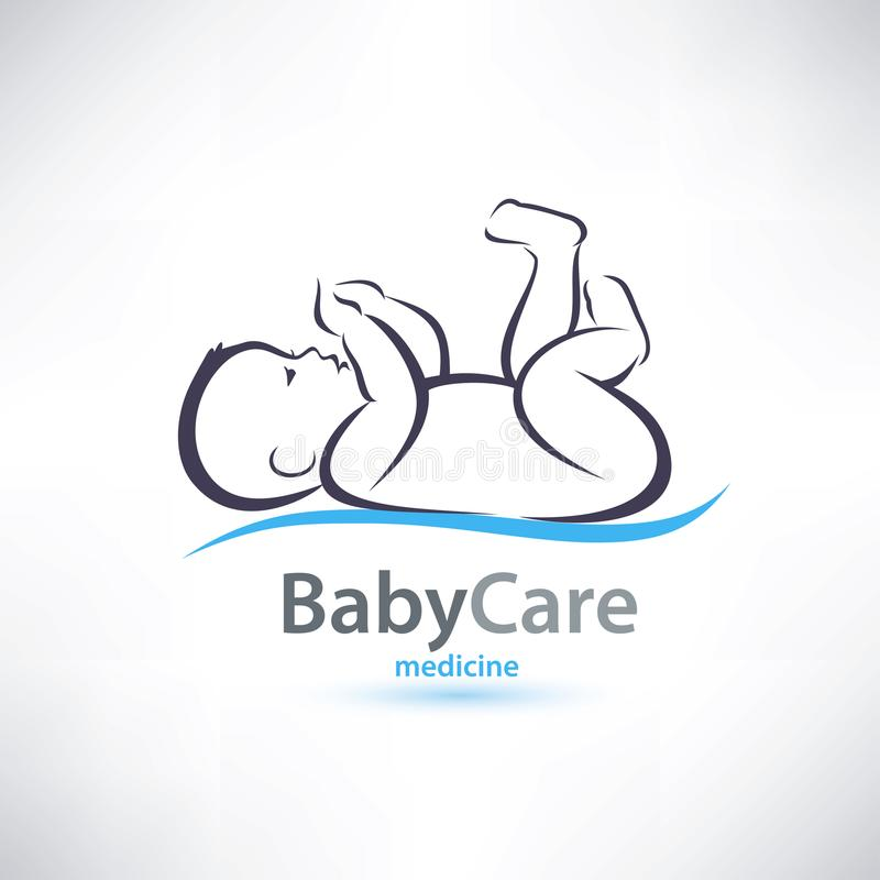Baby stylized symbol. Skin care concept stock illustration