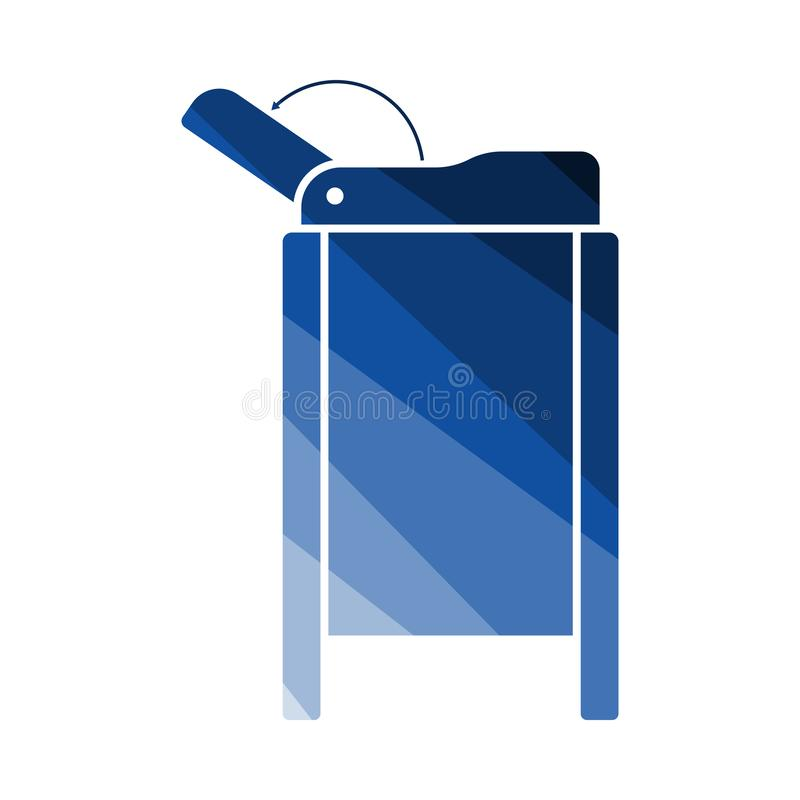 Baby Swaddle Table Icon royalty free illustration