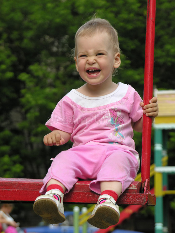Download Baby On Swing Royalty Free Stock Images - Image: 915879