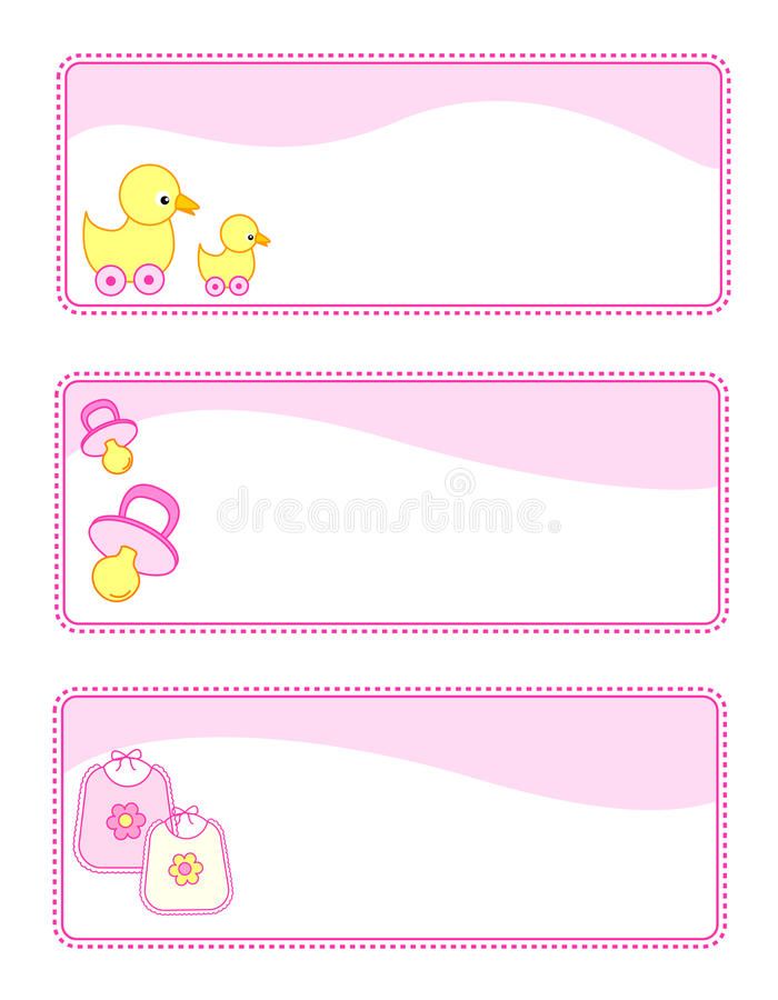 Download Baby tags / banners stock vector. Image of birthday, announce - 12531467