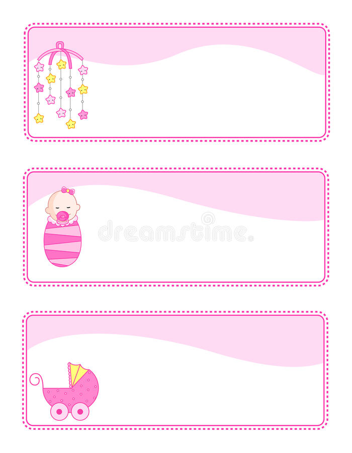 Baby Tags / Banners Royalty Free Stock Image