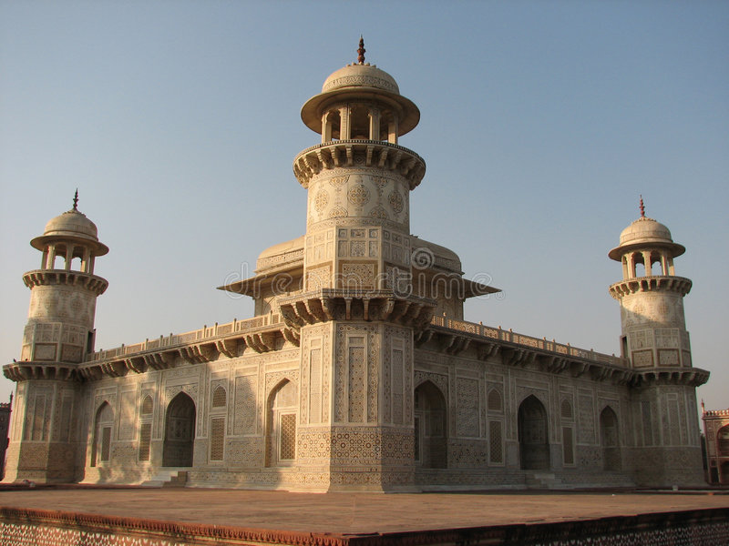 Baby Taj Mahal tomb stock image. Image of white, ornate ...