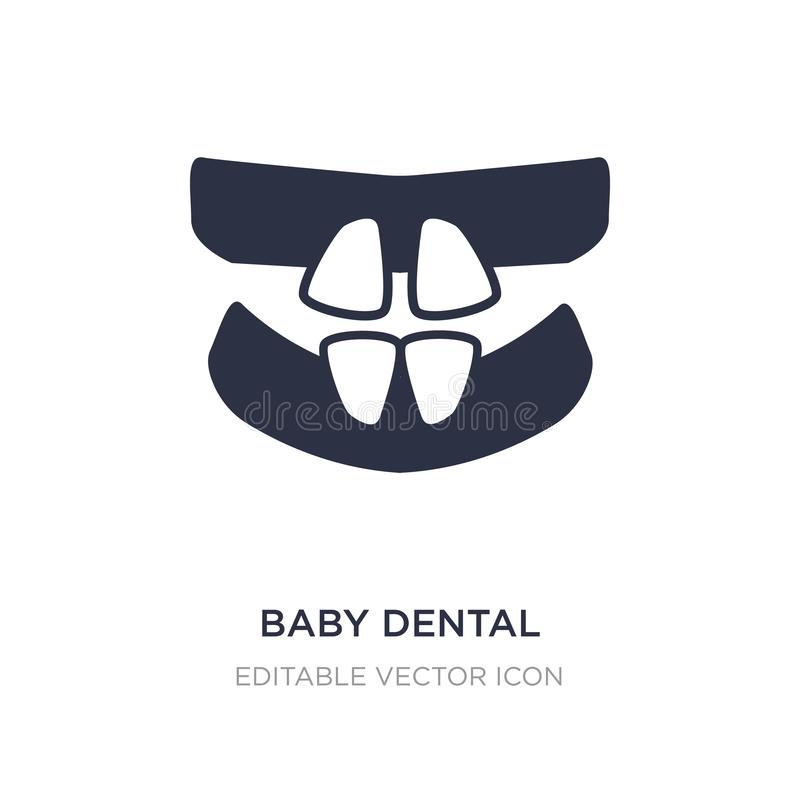 baby tandpictogram op witte achtergrond Eenvoudige elementenillustratie van Tandartsconcept royalty-vrije illustratie