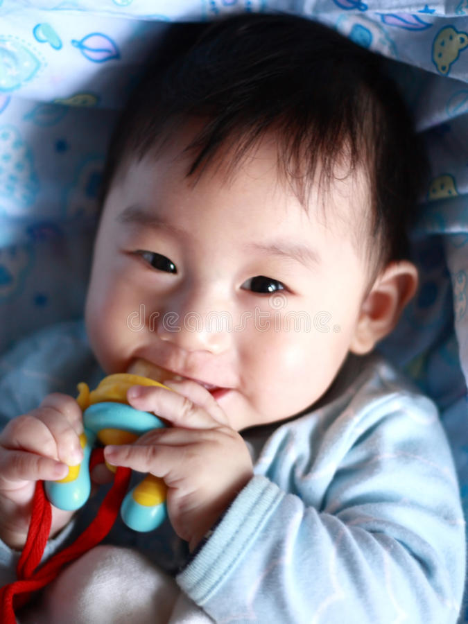 Baby Teething Royalty Free Stock Photography