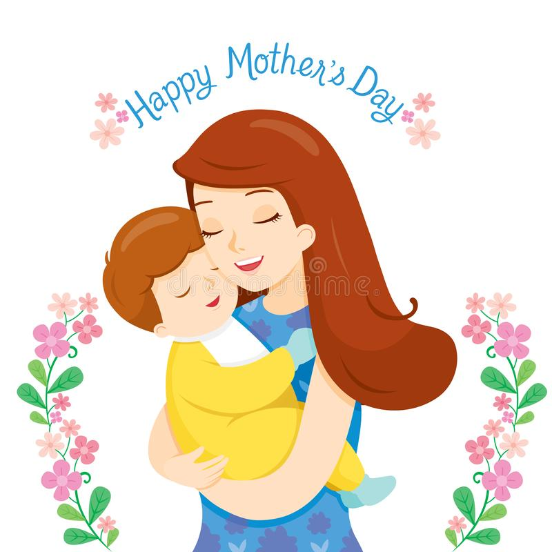 Baby In A Tender Embrace Of Mother royalty free stock images