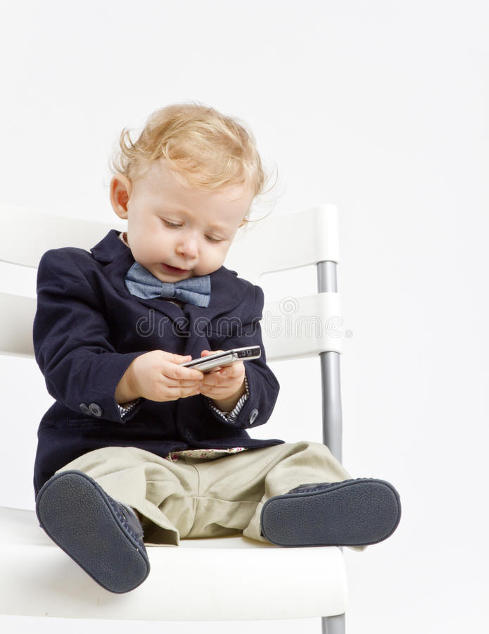 Baby texting royalty free stock images