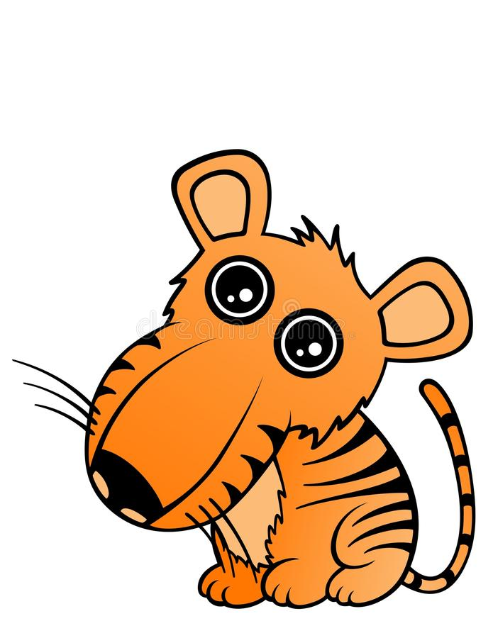 Baby Tiger. Drawing of a cute baby tiger stock illustration