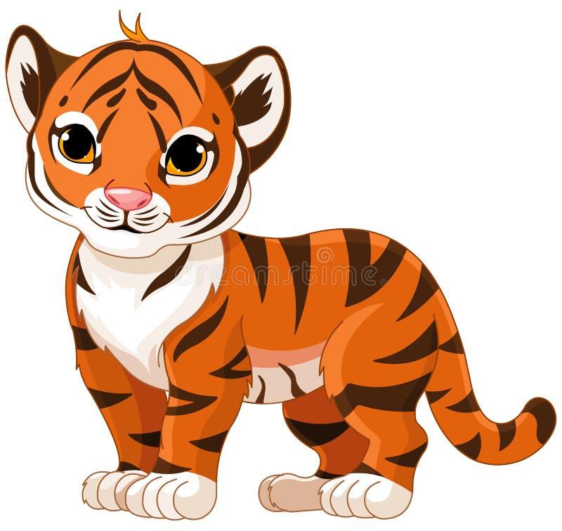 Baby Tiger. Illustration of cute baby tiger stock illustration