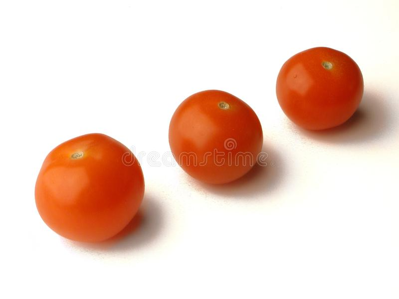 Baby Tomatoes In A Row Stock Photos