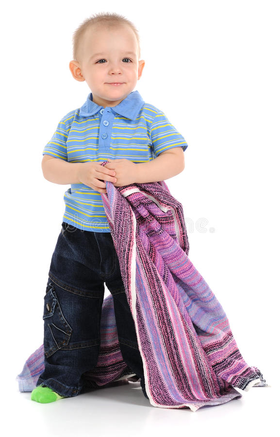 Download Baby and Towel stock image. Image of trousers, happy - 18507605