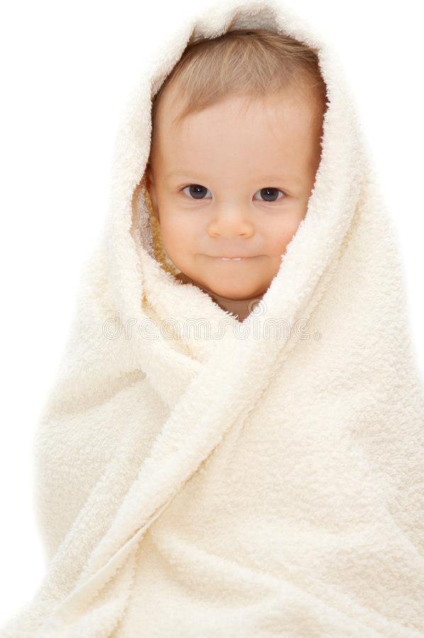 Download Baby in towel stock image. Image of clean, happy, infancy - 6870701