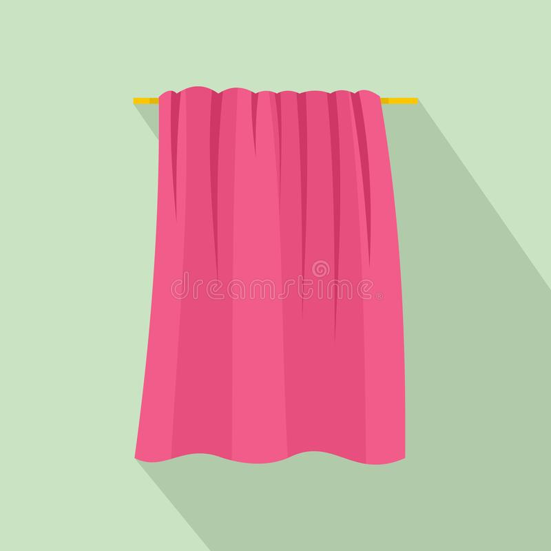 Baby towel icon, flat style. Baby towel icon. Flat illustration of baby towel icon for web design royalty free illustration