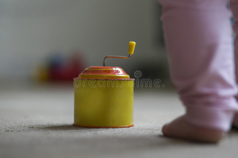 Baby toy for children. Music box royalty free stock photo