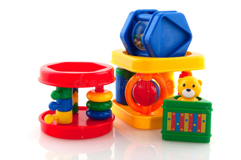 Baby toys stock photography
