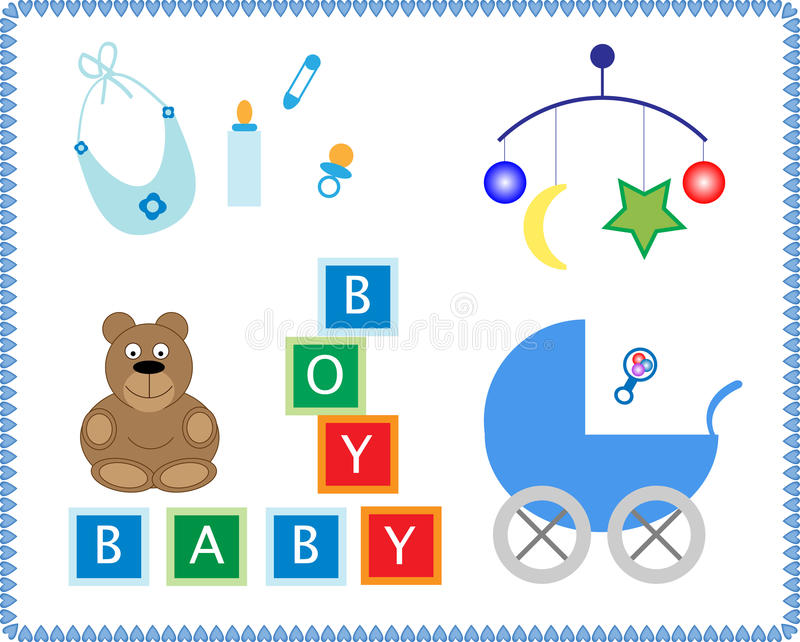 Download Baby Toys stock illustration. Illustration of letters - 12029695