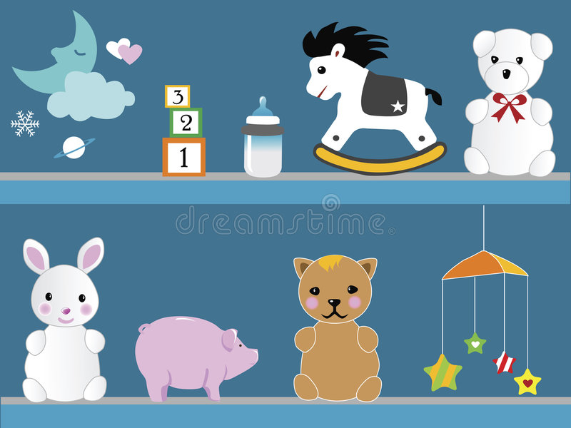 BABY TOYS vector illustration