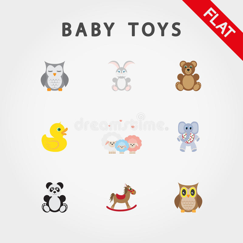 Baby toys. Cute little animals. vector illustration